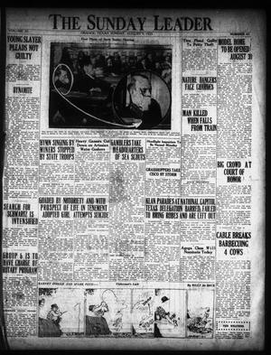Primary view of object titled 'The Orange Daily Leader (Orange, Tex.), Vol. 11, No. 41, Ed. 1 Sunday, August 9, 1925'.