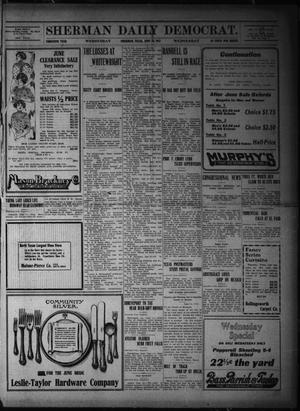 Primary view of object titled 'Sherman Daily Democrat. (Sherman, Tex.), Vol. THIRTIETH YEAR, Ed. 1 Wednesday, June 14, 1911'.