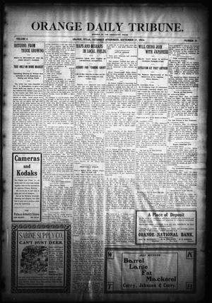 Primary view of object titled 'Orange Daily Tribune. (Orange, Tex.), Vol. 4, No. 21, Ed. 1 Saturday, September 17, 1904'.