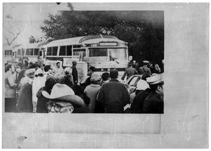 Primary view of object titled '[Buses Among a Crowd]'.