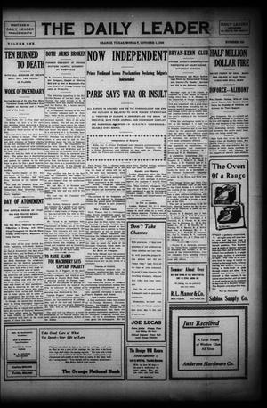 Primary view of The Daily Leader (Orange, Tex.), Vol. 1, No. 155, Ed. 1 Monday, October 5, 1908