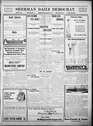 Primary view of object titled 'Sherman Daily Democrat. (Sherman, Tex.), Vol. THIRTIETH YEAR, Ed. 1 Wednesday, February 15, 1911'.