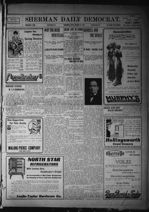 Primary view of object titled 'Sherman Daily Democrat. (Sherman, Tex.), Vol. THIRTIETH YEAR, Ed. 1 Monday, March 13, 1911'.