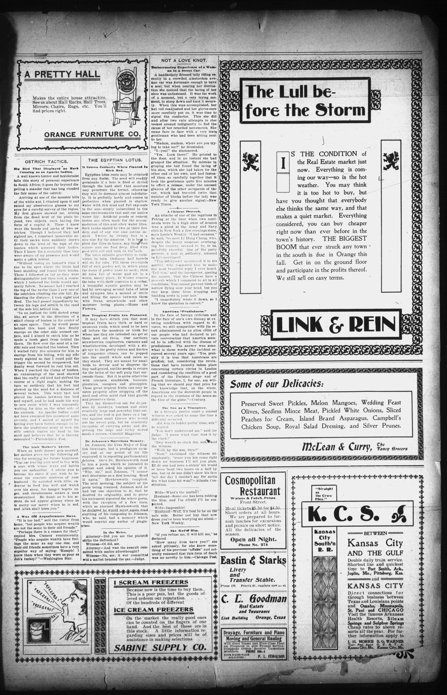 The Orange Daily Tribune. (Orange, Tex.), Vol. 1, No. 98, Ed. 1 Monday, July 7, 1902                                                                                                      [Sequence #]: 3 of 4