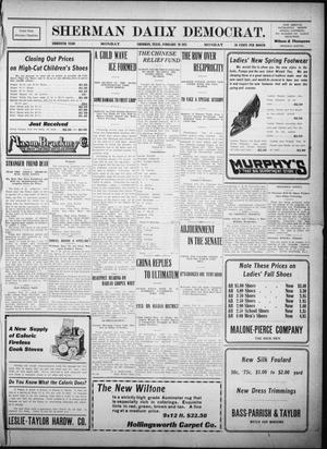 Primary view of object titled 'Sherman Daily Democrat. (Sherman, Tex.), Vol. THIRTIETH YEAR, Ed. 1 Monday, February 20, 1911'.
