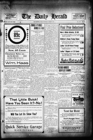 Primary view of The Daily Herald (Weatherford, Tex.), Vol. 17, No. 179, Ed. 1 Wednesday, August 9, 1916
