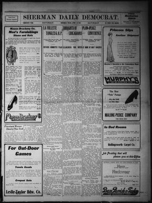 Primary view of object titled 'Sherman Daily Democrat. (Sherman, Tex.), Vol. THIRTIETH YEAR, Ed. 1 Saturday, April 29, 1911'.