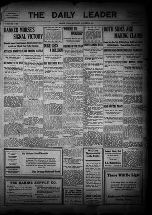 Primary view of The Daily Leader (Orange, Tex.), Vol. 1, No. 184, Ed. 1 Saturday, October 31, 1908