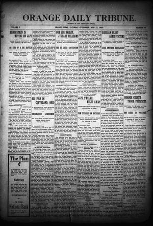 Primary view of object titled 'Orange Daily Tribune. (Orange, Tex.), Vol. 3, No. 89, Ed. 1 Saturday, June 25, 1904'.