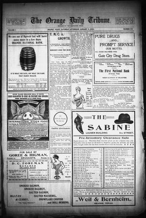 Primary view of object titled 'The Orange Daily Tribune. (Orange, Tex.), Vol. 1, No. 251, Ed. 1 Saturday, January 3, 1903'.