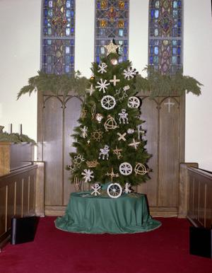 Primary view of object titled '[First Presbyterian Church's Christmas Tree]'.