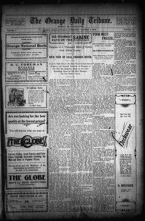 Primary view of object titled 'The Orange Daily Tribune. (Orange, Tex.), Vol. 1, No. 175, Ed. 1 Saturday, October 4, 1902'.