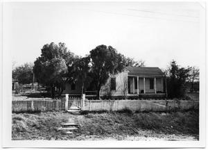 Primary view of object titled '[House with Low Metal Fence]'.