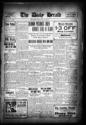 Primary view of object titled 'The Daily Herald (Weatherford, Tex.), Vol. 19, No. 162, Ed. 1 Saturday, July 20, 1918'.