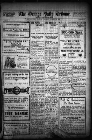 Primary view of object titled 'The Orange Daily Tribune. (Orange, Tex.), Vol. 1, No. 176, Ed. 1 Monday, October 6, 1902'.