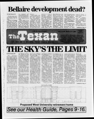 Primary view of object titled 'The Texan (Bellaire, Tex.), Vol. 31, No. 46, Ed. 1 Wednesday, July 17, 1985'.