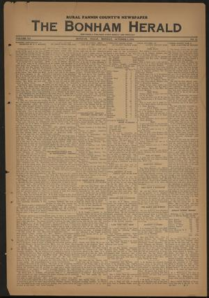 Primary view of object titled 'The Bonham Herald (Bonham, Tex.), Vol. 12, No. 15, Ed. 1 Monday, October 3, 1938'.