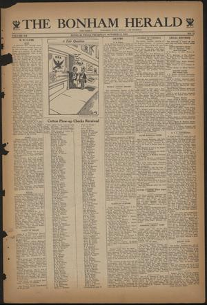 Primary view of object titled 'The Bonham Herald (Bonham, Tex.), Vol. 7, No. 12, Ed. 1 Thursday, October 12, 1933'.