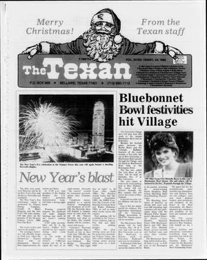 Primary view of object titled 'The Texan (Bellaire, Tex.), Vol. 34, No. 16, Ed. 1 Wednesday, December 24, 1986'.
