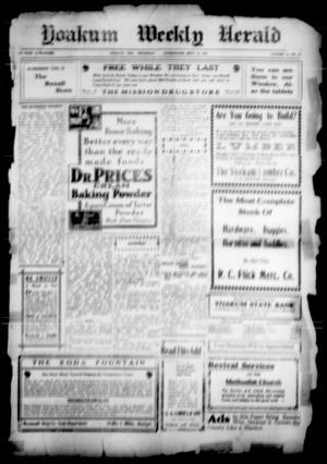 Primary view of object titled 'Yoakum Weekly Herald (Yoakum, Tex.), Vol. [16], No. [58], Ed. 1 Thursday, September 21, 1911'.