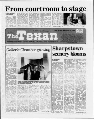 Primary view of object titled 'The Texan (Bellaire, Tex.), Vol. 34, No. 28, Ed. 1 Wednesday, March 18, 1987'.