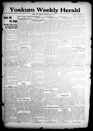 Primary view of object titled 'Yoakum Weekly Herald (Yoakum, Tex.), Vol. 17, No. 51, Ed. 1 Thursday, October 23, 1913'.