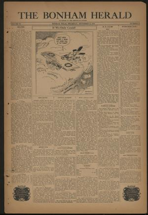 Primary view of object titled 'The Bonham Herald (Bonham, Tex.), Vol. 6, No. 22, Ed. 1 Thursday, December 15, 1932'.