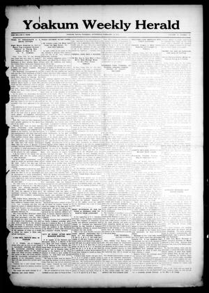 Primary view of object titled 'Yoakum Weekly Herald (Yoakum, Tex.), Vol. 18, No. 15, Ed. 1 Thursday, February 19, 1914'.