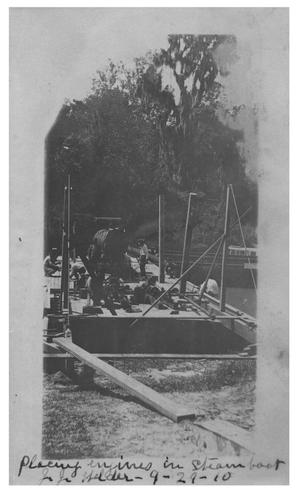 Primary view of object titled 'Placing engines in steamboat John J. Welder'.
