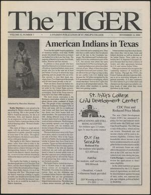 Primary view of object titled 'The Tiger (San Antonio, Tex.), Vol. 52, No. 3, Ed. 1 Tuesday, November 14, 2000'.