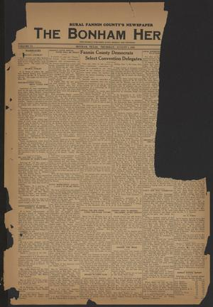 Primary view of object titled 'The Bonham Herald (Bonham, Tex.), Vol. 11, No. [99], Ed. 1 Monday, August 1, 1938'.