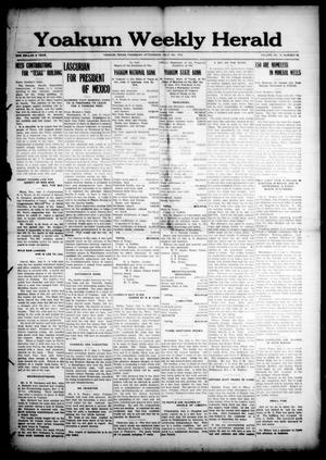 Primary view of object titled 'Yoakum Weekly Herald (Yoakum, Tex.), Vol. 18, No. 35, Ed. 1 Thursday, July 9, 1914'.