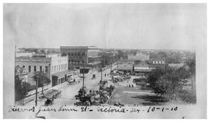 Primary view of object titled 'Street view of Juan Linn Street, Victoria, Texas'.