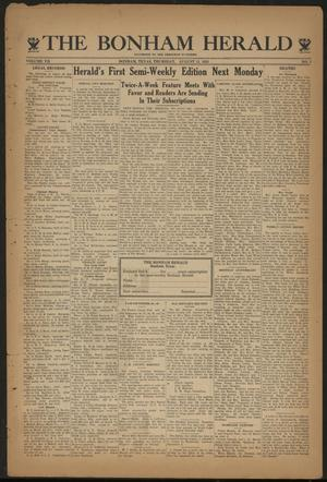 Primary view of object titled 'The Bonham Herald (Bonham, Tex.), Vol. 7, No. 7, Ed. 1 Thursday, August 31, 1933'.