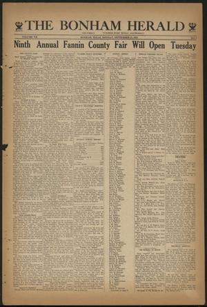 Primary view of object titled 'The Bonham Herald (Bonham, Tex.), Vol. 7, No. 7, Ed. 1 Monday, September 25, 1933'.