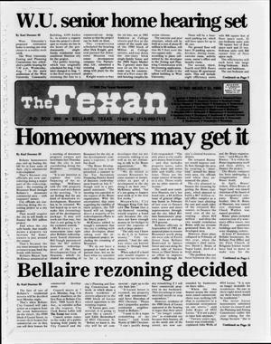 Primary view of object titled 'The Texan (Bellaire, Tex.), Vol. 31, No. 48, Ed. 1 Wednesday, July 31, 1985'.