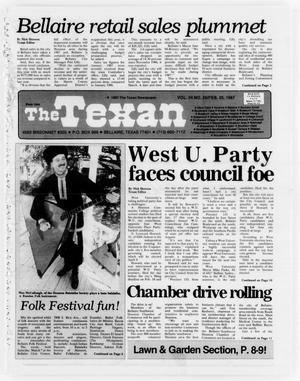 Primary view of object titled 'The Texan (Bellaire, Tex.), Vol. 34, No. 25, Ed. 1 Wednesday, February 25, 1987'.