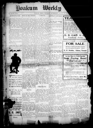 Primary view of object titled 'Yoakum Weekly Herald (Yoakum, Tex.), Vol. [15], No. [51], Ed. 1 Thursday, August 18, 1910'.
