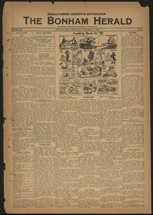 Primary view of object titled 'The Bonham Herald (Bonham, Tex.), Vol. 12, No. 40, Ed. 1 Thursday, December 29, 1938'.