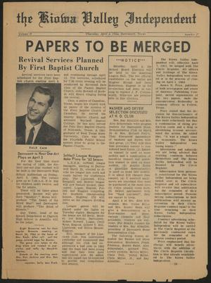 The Kiowa Valley Independent (Darrouzett, Tex.), Vol. 2, No. 27, Ed. 1 Thursday, April 2, 1964