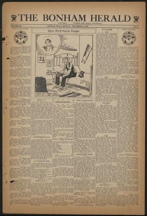 Primary view of object titled 'The Bonham Herald (Bonham, Tex.), Vol. 7, No. 31, Ed. 1 Monday, December 18, 1933'.