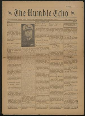 The Humble Echo (Humble, Tex.), Vol. 3, No. 28, Ed. 1 Friday, November 17, 1944