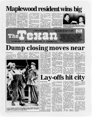 Primary view of object titled 'The Texan (Bellaire, Tex.), Vol. 33, No. 45, Ed. 1 Wednesday, July 16, 1986'.