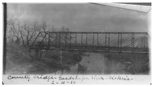 Primary view of object titled 'County bridge [over the] Guadalupe River'.