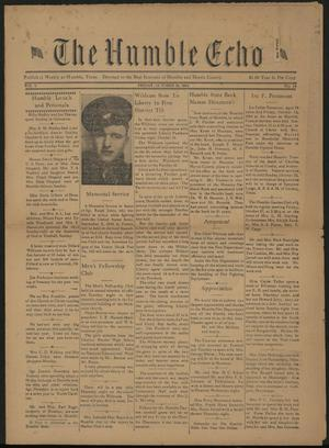 The Humble Echo (Humble, Tex.), Vol. 3, No. 24, Ed. 1 Friday, October 20, 1944