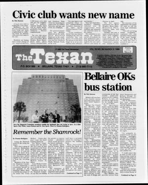 Primary view of object titled 'The Texan (Bellaire, Tex.), Vol. 33, No. 26, Ed. 1 Wednesday, March 5, 1986'.