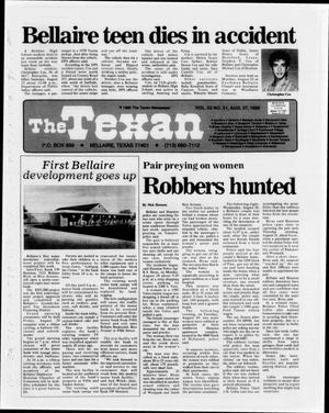 Primary view of object titled 'The Texan (Bellaire, Tex.), Vol. 33, No. 51, Ed. 1 Wednesday, August 27, 1986'.
