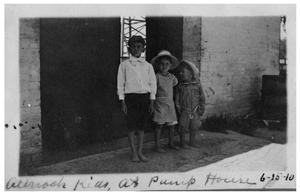 Primary view of object titled 'Allnoch kids at pump house'.