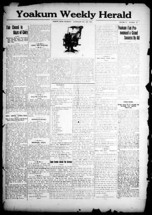 Primary view of object titled 'Yoakum Weekly Herald (Yoakum, Tex.), Vol. 17, No. 50, Ed. 1 Thursday, October 16, 1913'.