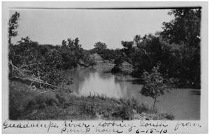 Primary view of object titled 'Guadalupe River looking south from pump house'.
